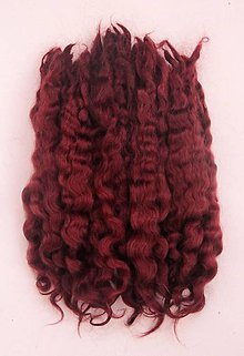 Materiál ručne robený - Vlasy pre bábiky - mahagón - 7651208_