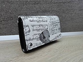 Peňaženky - Peňaženka na 8 kariet,koženka+bavlna - 7650236_