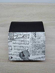 Peňaženky - Peňaženka na 8 kariet,koženka+bavlna - 7650258_