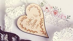 - Drevená magnetka pre svadobčanov - 7649955_