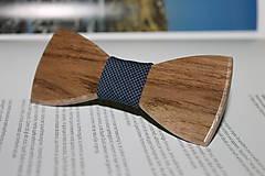 Doplnky - Drevený motýlik (Drevený motýlik + masívna krabička) - 7649224_