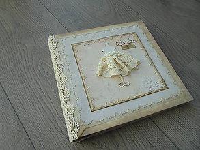 Papiernictvo - Vintage svadobný album na objednávku s čikami - 7649079_