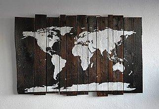 Dekorácie - Mapa sveta - 7651178_