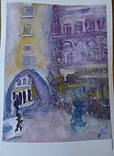 Obrazy - sneží na Michalskej ulici - 7651497_