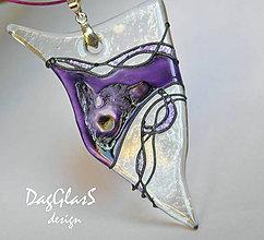 Náhrdelníky - šperk zo skla - maľovaný.... - 7649993_