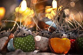 Dekorácie - Pestrofarebné myšky - 7649120_