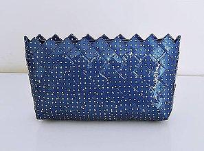 Kabelky - Kabelka - ecoist - modré bodky - 7648215_