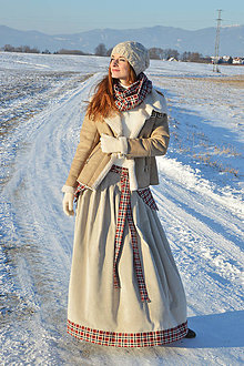 Sukne - Kordová sukňa s nákrčníkom - 7650063_
