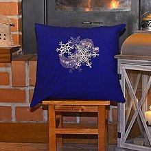 Úžitkový textil - Vianočné vankúšiky modré - 7647595_