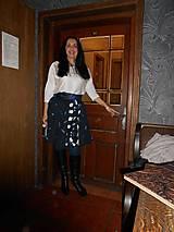 Sukne - sukňa tmavomodrá - 50% - 7648041_
