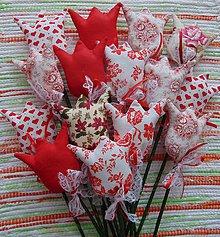 Dekorácie - Tulipány v červenom - 7647676_
