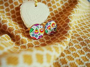 Šperky - Manžetky s folklórnym motívom - 7648860_