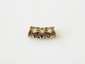 Komponenty - Ozdobná rúrka Orient, zlatá, bal.1ks - 7648124_