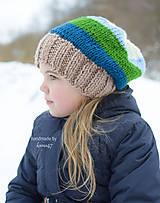 Detské čiapky - Pletená zimná homelles ...