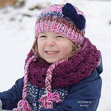 Detské doplnky - Háčkovaný nákrčník na zimu ...