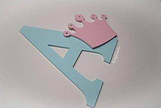 Detské doplnky - 30cm iniciála s korunou - 7655055_