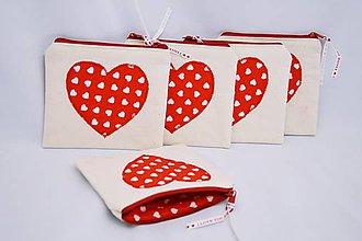 Taštičky - Valentínska mini taštička - 7654172_