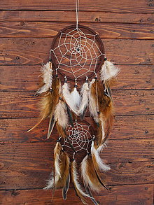 Dekorácie - Indiánsky lapač zlých snov - 7654166_