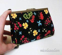 Peňaženky - Rámečková peněženka - střední 17cm - 7652288_