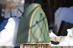 Dekorácie - Váza zelená, medienková .... kúsok gotiky :o)). - 7652478_