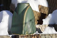 Dekorácie - Váza zelená, medienková .... kúsok gotiky :o)). - 7652504_