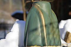 Dekorácie - Váza zelená, medienková .... kúsok gotiky :o)). - 7652519_