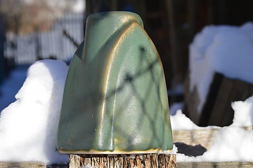 Váza zelená, medienková .... kúsok gotiky :o)).