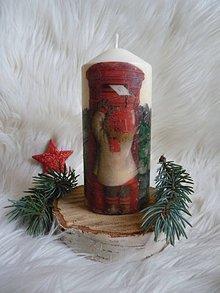 Svietidlá a sviečky - Vianočná sviečka - 7654904_