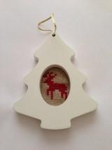 Dekorácie - Vianočná ozdoba stromček - 7654817_