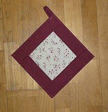Úžitkový textil - Chňapka s kvietkami - dva varianty (2) - 7652357_