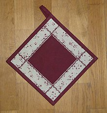 Úžitkový textil - Chňapka s kvietkami - dva varianty (1) - 7652383_