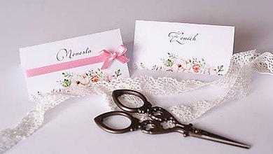 Drobnosti - Menovka na svadobný stôl - 7653532_