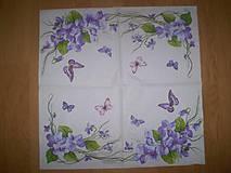 Papier - Servítka Fialky - 7653511_