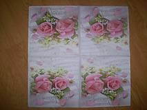 Papier - Servítka Ruže - 7653616_