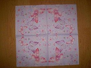 Papier - Servítka Motýle - 7653551_