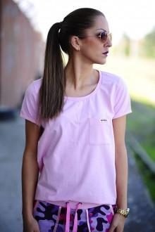 Tričká - BOYFRIEND tričko BABY PINK - 7653896_