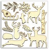 - AB37 Sada drevených tvarov Zvieratká a zima v lese 12 ks - 7654024_