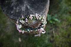 Ozdoby do vlasov - Kvetinový venček pre nevestu