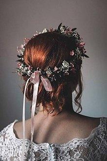 Ozdoby do vlasov - Kvetinový venček pre nevestu \