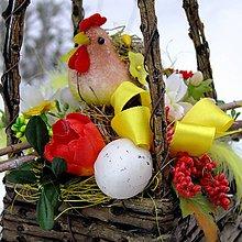 Dekorácie - Jarní dekorace - Proutí - menší - 7654157_