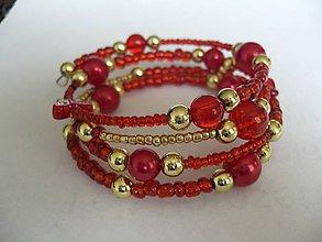 Náramky - pamäťový náramok Red love - 7652008_