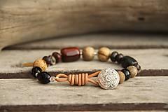 Náramky - Bohemian náramok jaspis, tigrie oko, onyx... - 7654664_