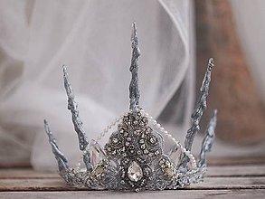 Ozdoby do vlasov - koruna pro ledovou královnu - 7653092_