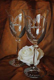 Nádoby - Svadobné poháre - 7657741_