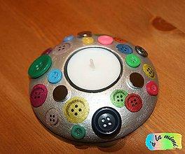 Svietidlá a sviečky - Magnetický svietnik Gombičky - 7656723_