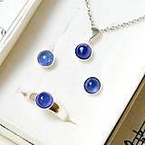 Tanzanite Silver Ag 925 Set / Sada strieborných šperkov s pravým tanzanitom