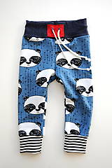 Detské oblečenie - Tepláky modrá panda - 7657105_