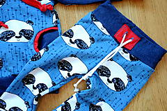 Detské oblečenie - Tepláky modrá panda - 7657107_