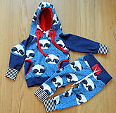 Detské oblečenie - Tepláky modrá panda - 7657108_