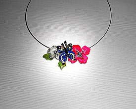 Náhrdelníky - náhrdelník butterfly - 7656434_